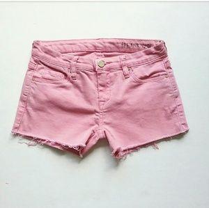 Blank NYC Shorts - Blank NYC Pink Cut Off Stretch Jean Shorts